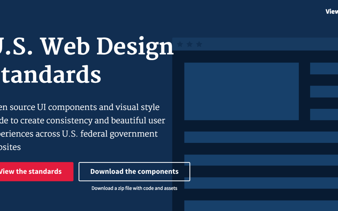 A useful web development standard from an unlikely source – The US government!